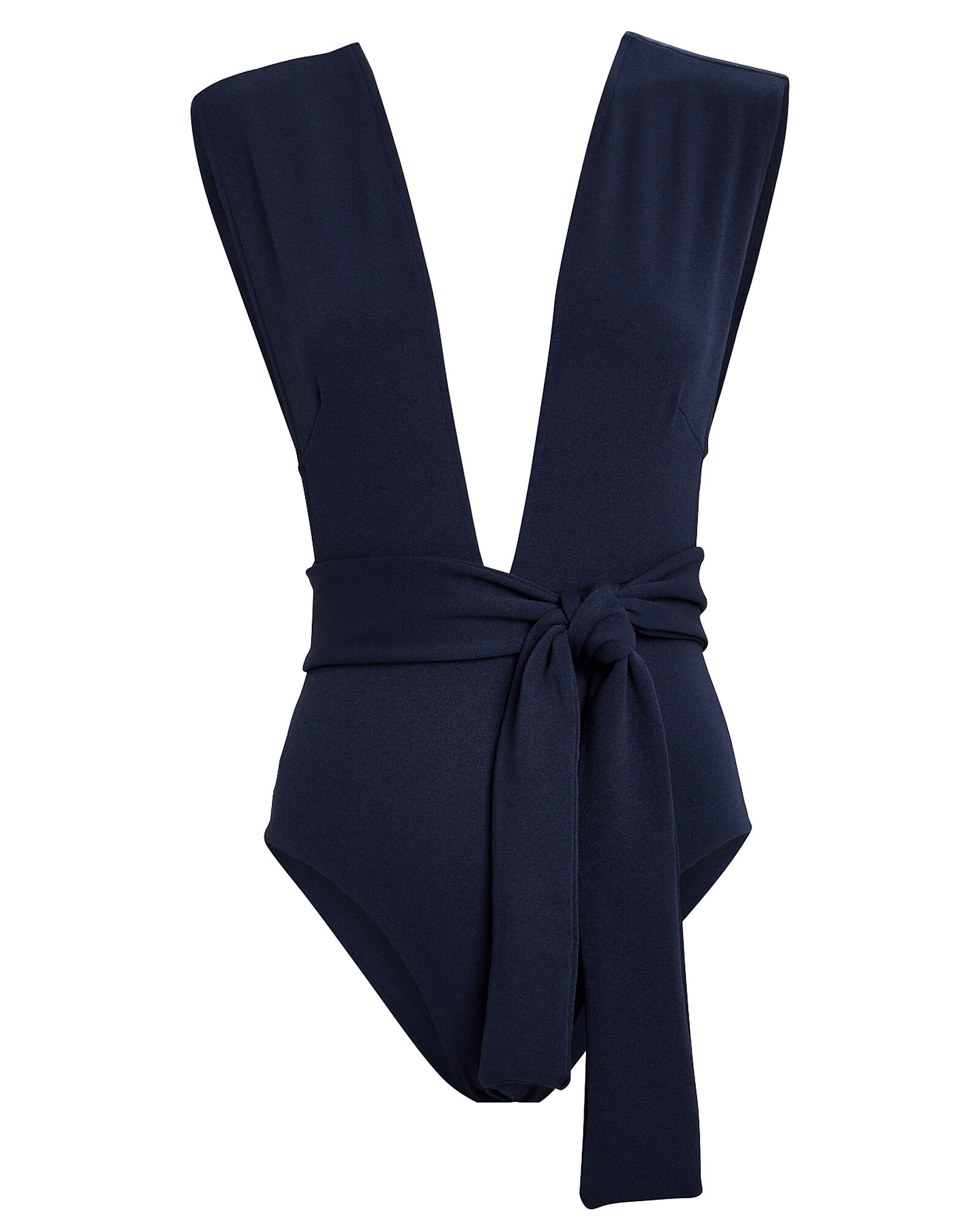Crepe Maillot One-Piece Swimsuit, NAVY, hi-res