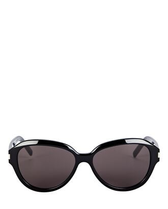 Angular Oval Sunglasses, BLACK, hi-res