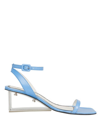 Alyssa Clear Heel Blue Sandals, BLUE, hi-res
