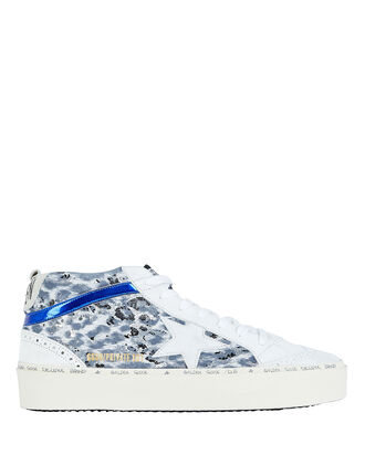 Mid Star Leather Sneakers, BLUE/LEOPARD, hi-res