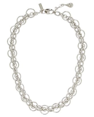Cirque Open Chain-Link Necklace, SILVER, hi-res