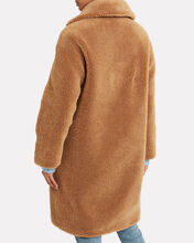 Camille Faux Shearling Cocoon Coat, BEIGE, hi-res