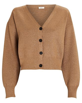 Peters V-Neck Cardigan, BROWN, hi-res
