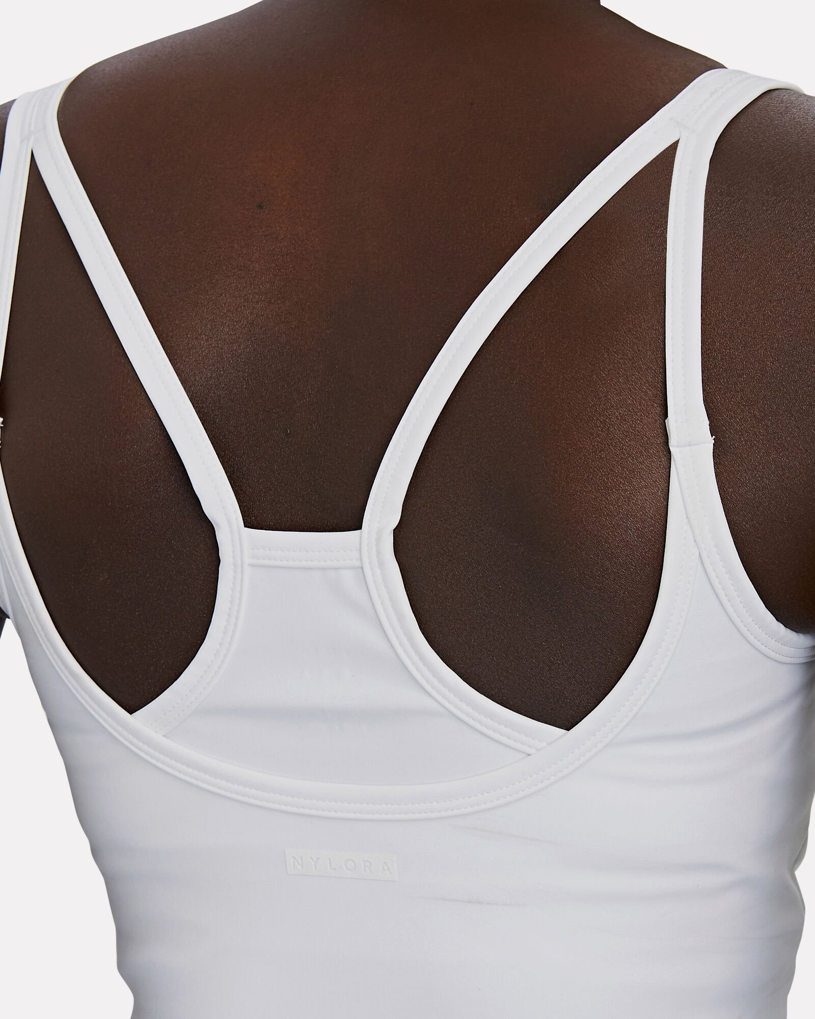 Riley Cropped Tank Top, WHITE, hi-res