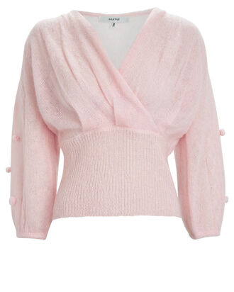 Jayla Mohair Wrap Sweater, PALE PINK, hi-res