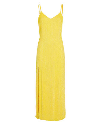 Rebecca Sequin Slip Gown, YELLOW, hi-res