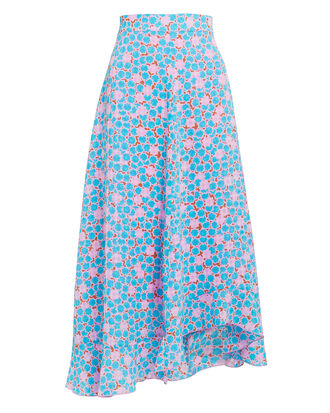 Marigold Blue Stardot Skirt, BLUE, hi-res