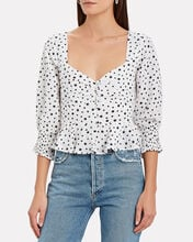 Sameera Mini Star Top, WHITE/BLACK, hi-res
