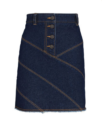 Emmerson Denim Mini Skirt, DARK WASH DENIM, hi-res