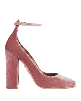 Alix Ankle Strap Pumps, PINK, hi-res