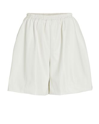 Clark Vegan Leather Shorts, IVORY, hi-res