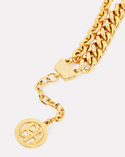 Double Layer Chain-Link Necklace, GOLD, hi-res