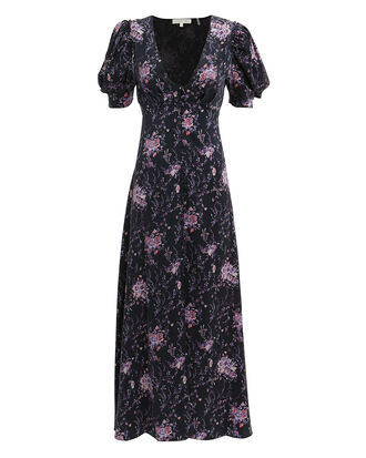 Delaney Floral Dress, DARK FLORAL, hi-res
