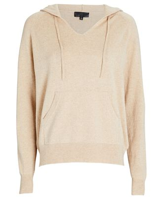 Albany Cashmere Hooded Sweater, BEIGE, hi-res