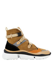 Sonnie High-Top Shearling Sneakers, BROWN, hi-res