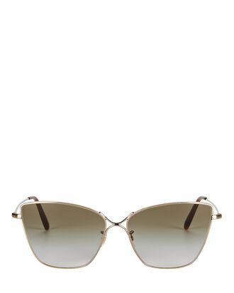 Marlyse Wire Cat Eye Sunglasses, OLIVE/ARMY, hi-res