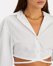 Love Knot Chain-Link Necklace, GOLD, hi-res