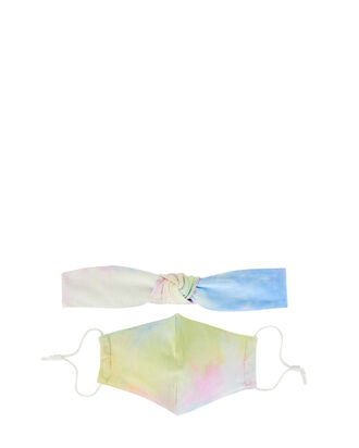 Tie-Dye Face Mask & Headband Bundle, MULTI, hi-res