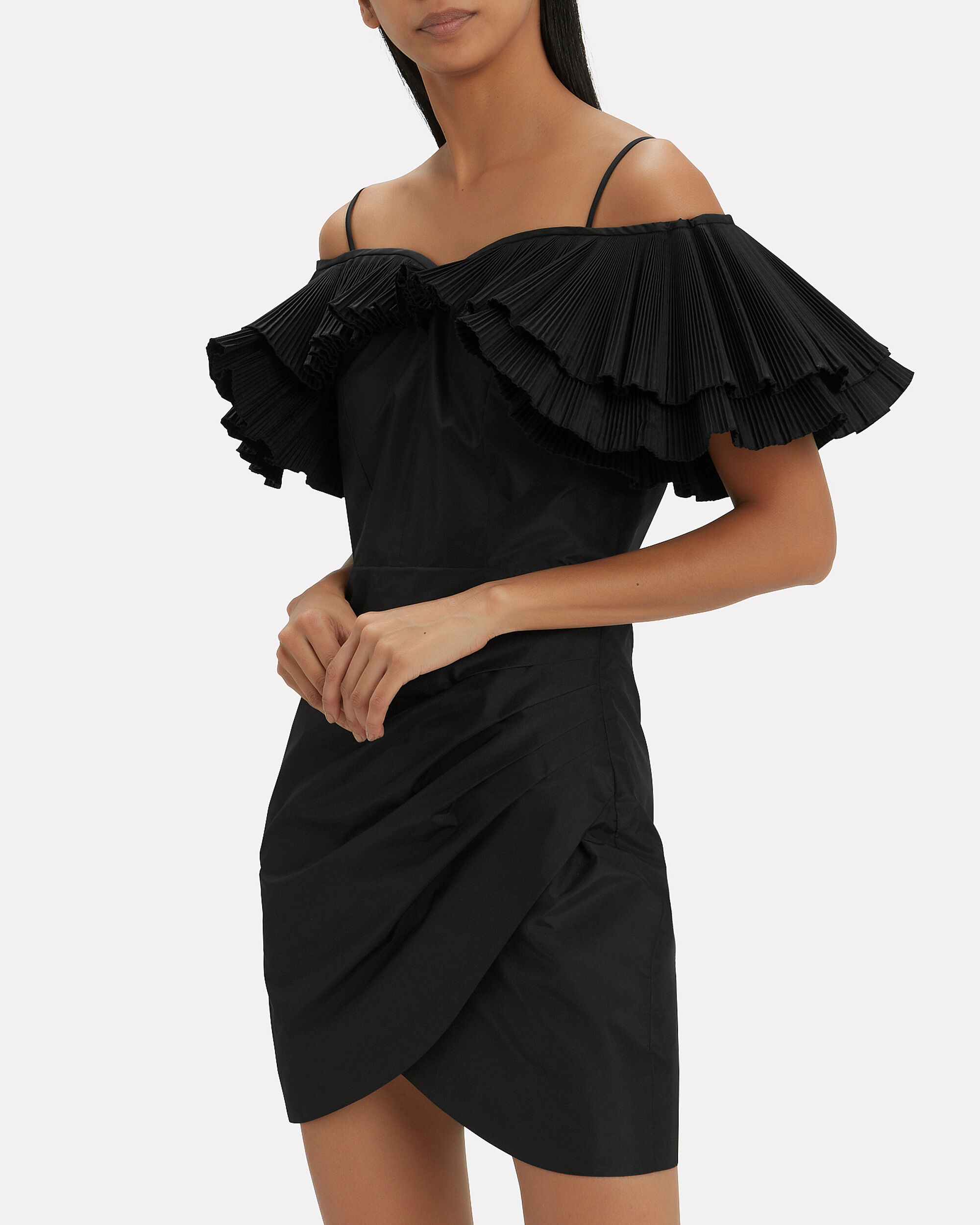 Taffeta Butterfly Dress, BLACK, hi-res