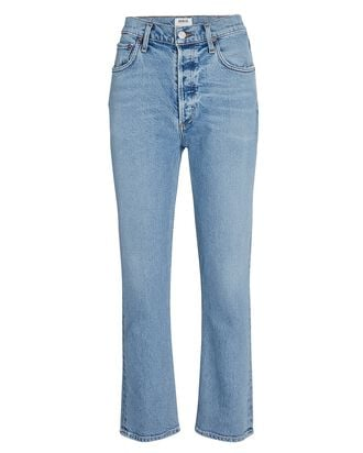 Riley High-Rise Cropped Jeans, SHIVER, hi-res