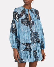 Sanya Floral Silk-Lurex Blouse, MULTI, hi-res