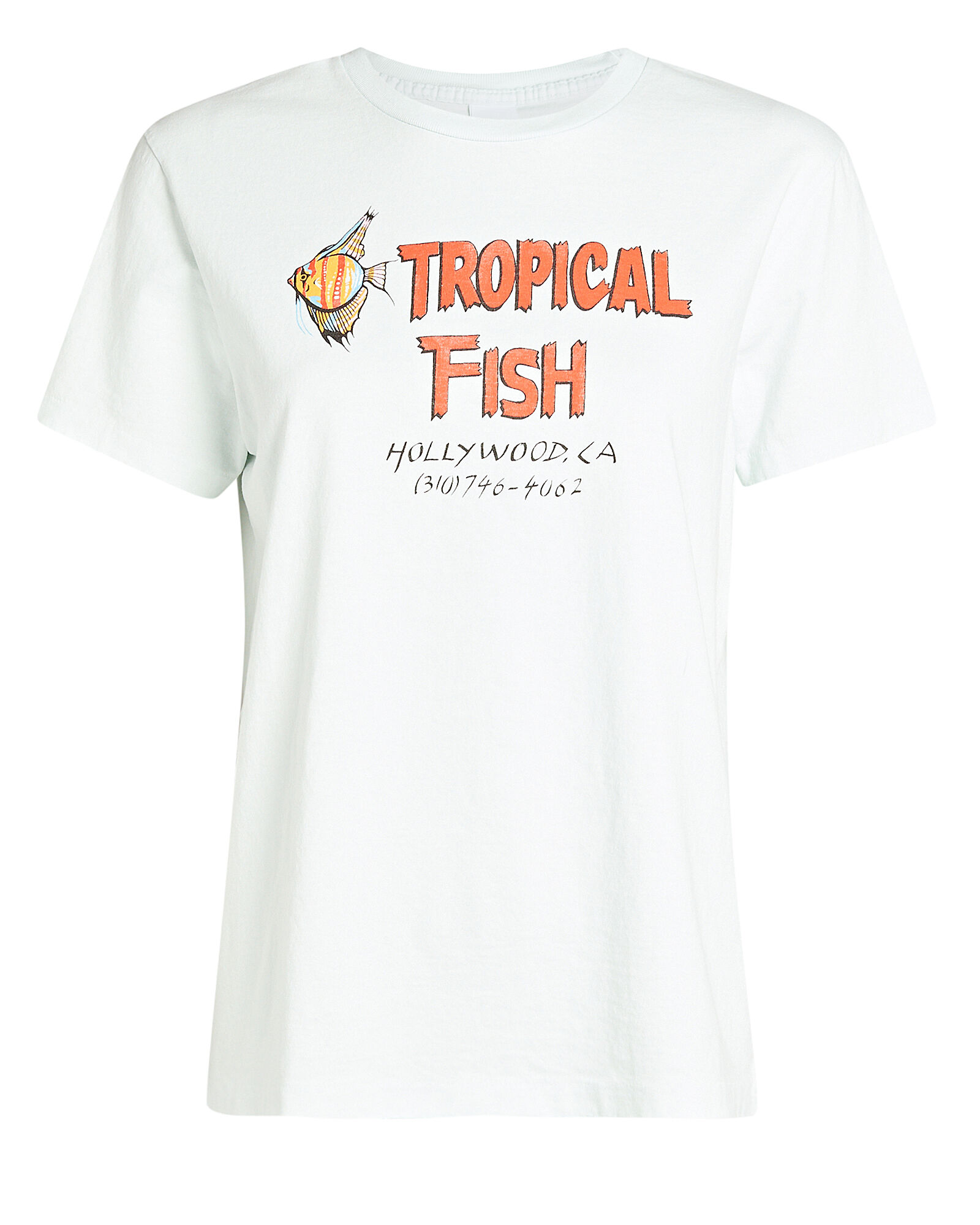 70s Loose Tropical Fish T-Shirt, LIGHT BLUE, hi-res