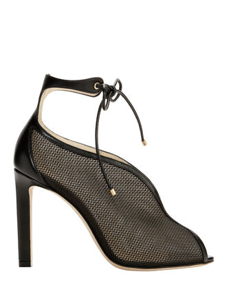 Sayra Mesh High Sandals, BLACK, hi-res