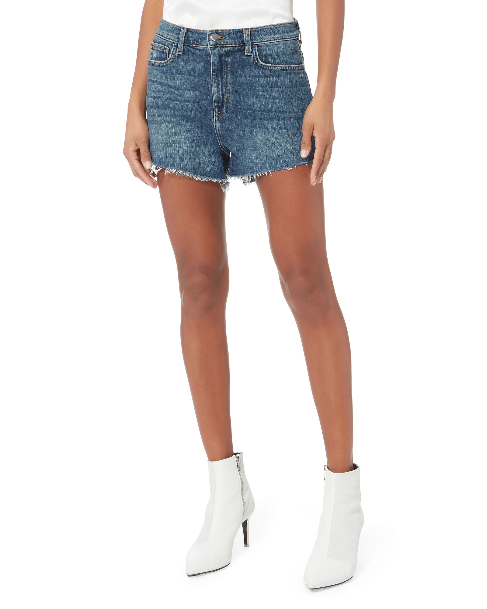 Ryland Cut-Off Denim Shorts, DENIM-DRK, hi-res