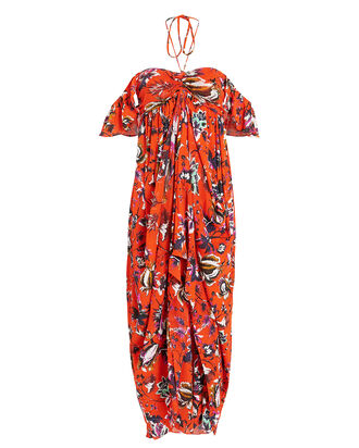 Celestia Maxi Dress, ORANGE/FLORAL, hi-res