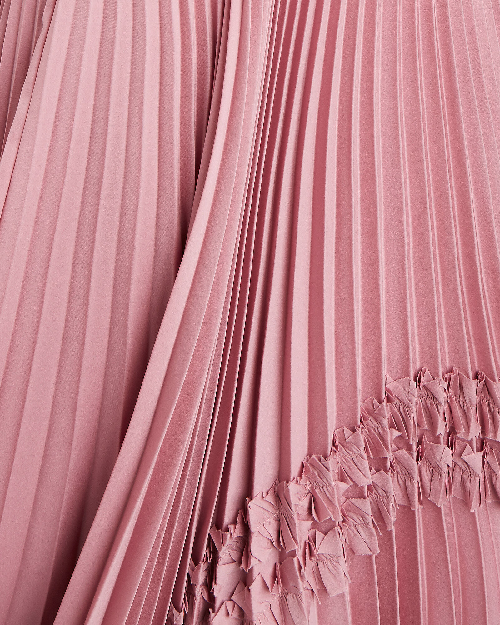 Bellona Pleated Satin Gown, PINK, hi-res