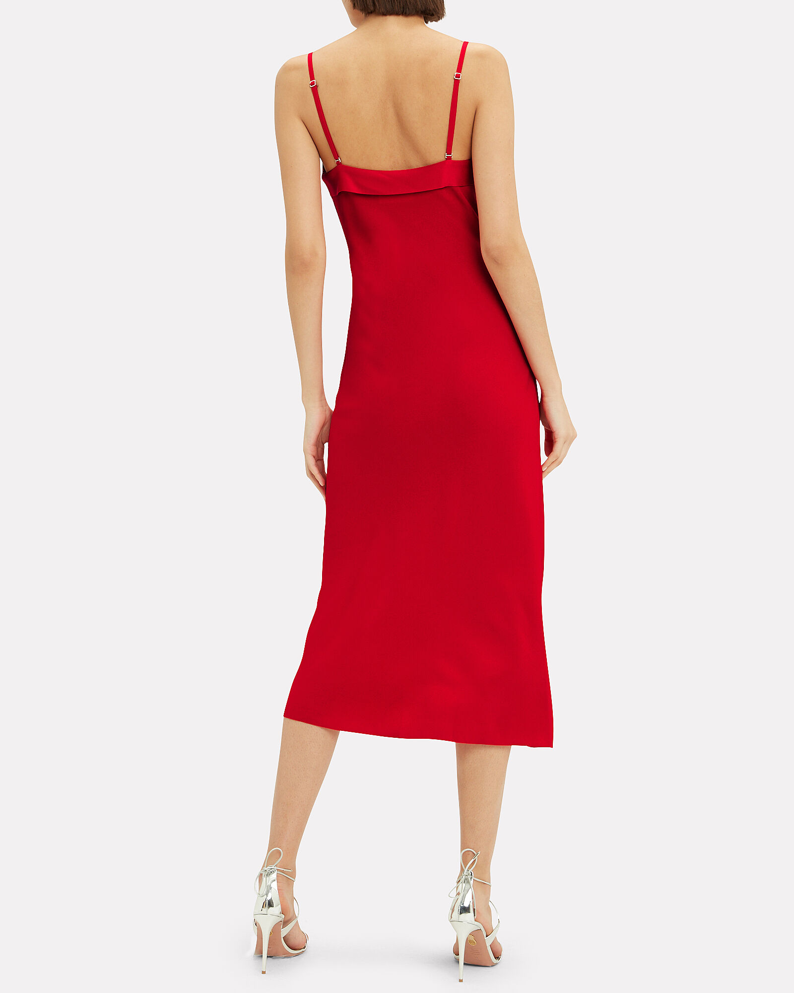 Stencil Lace Red Dress, RED, hi-res
