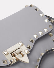 Rockstud Leather Crossbody Bag, GREY, hi-res
