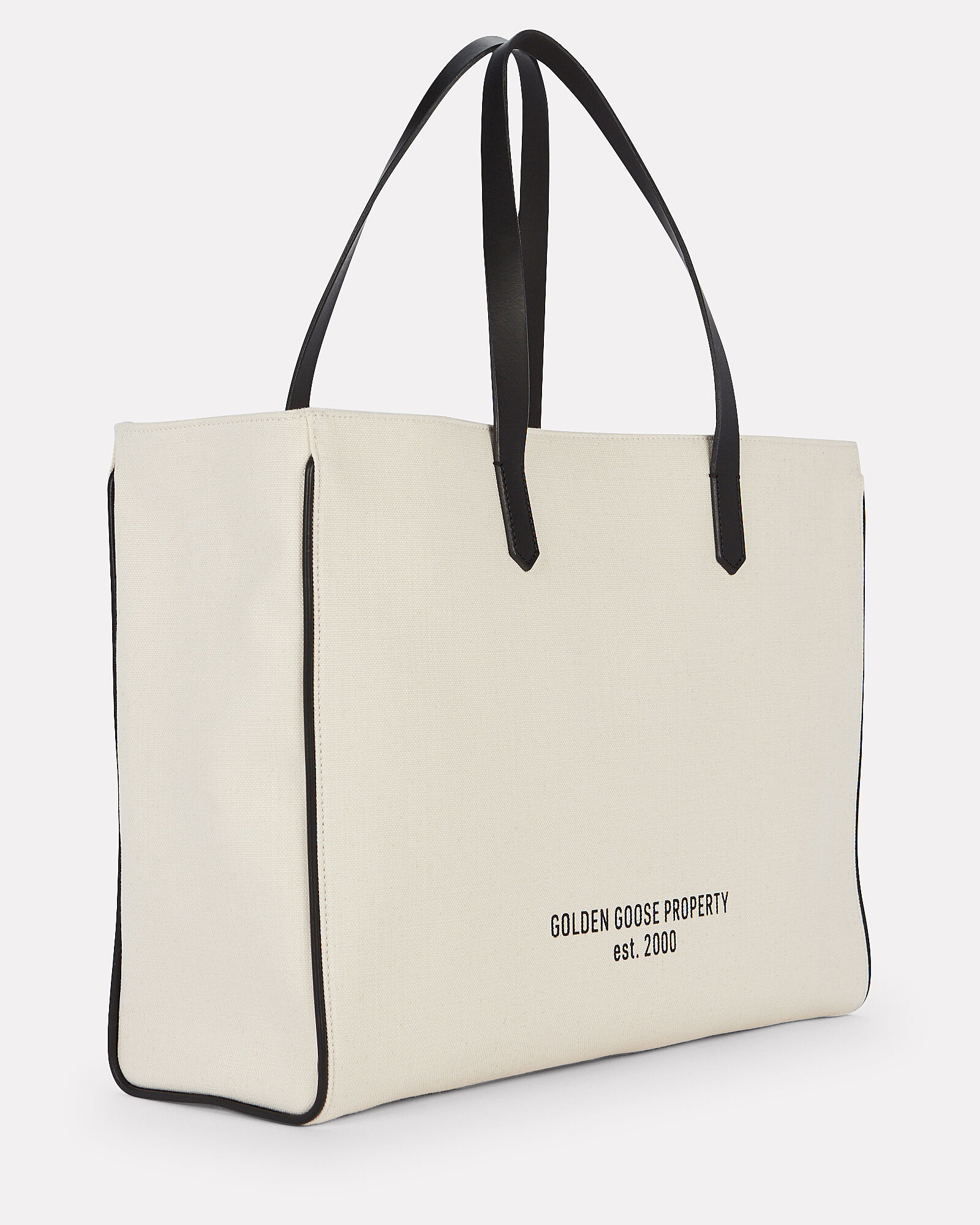 East-West California Canvas Tote, BEIGE, hi-res