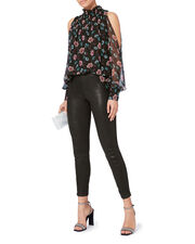 Leather Pull-On Pants, BLACK, hi-res