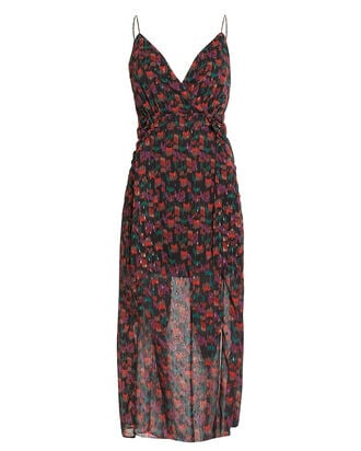 Umi Floral Chiffon Dress, RED/FLORAL, hi-res