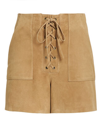 Wyatt Lace-Up Shorts, BROWN, hi-res
