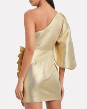 Luna One-Shoulder Lurex Dress, GOLD, hi-res