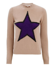 Star Front Sweater, PINK, hi-res