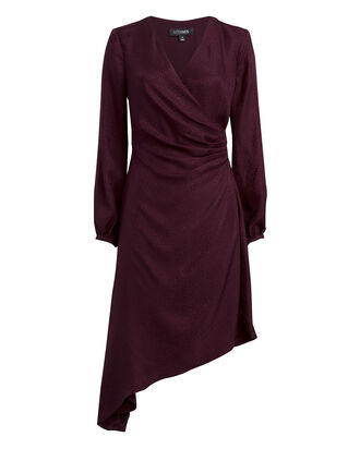 Nadia Jacquard Midi Dress, PURPLE-DRK, hi-res