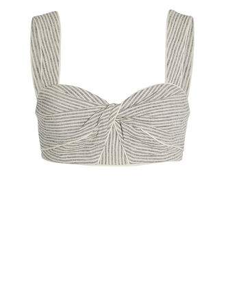Rockpool Striped Linen Bustier Top, NATURAL STRIPE, hi-res