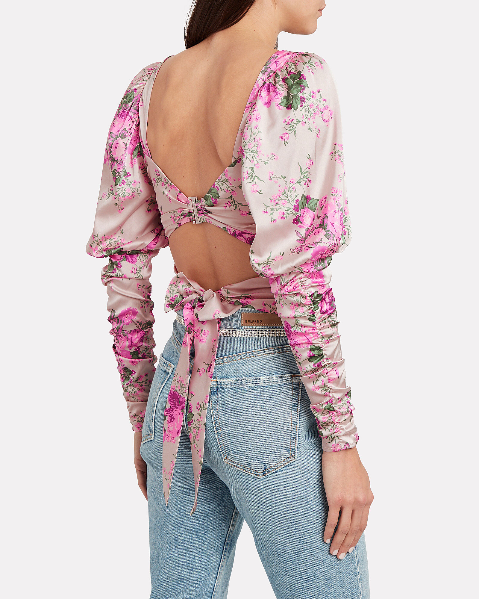 Palais Floral Crop Top, MULTI, hi-res