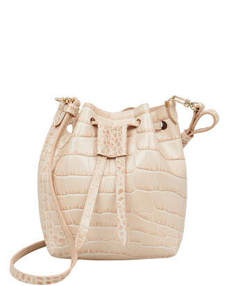 Minee Croc-Effect Crossbody Bag, IVORY, hi-res