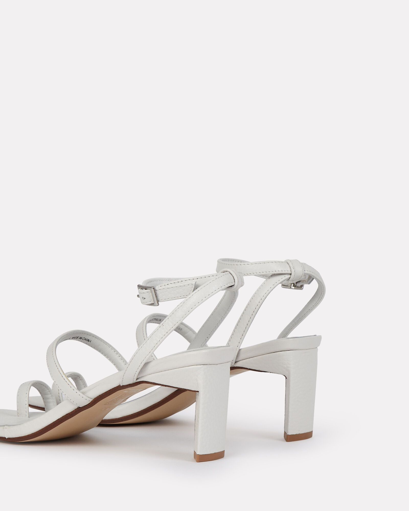 Millie Strappy Leather Sandals, WHITE, hi-res