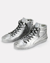 Slide Limited Edition Silver High-Top Sneakers, SILVER, hi-res