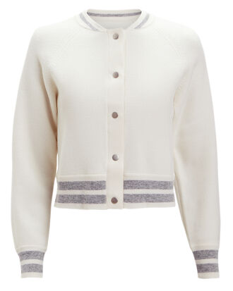 Lupi Cropped Bomber, WHITE/SILVER, hi-res