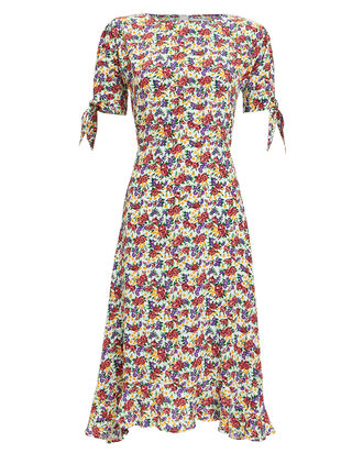 Emilia Floral Crepe Dress, MULTI, hi-res