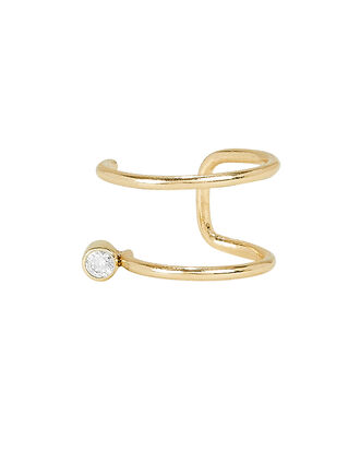 Thin Wire Diamond Ear Cuff, GOLD, hi-res