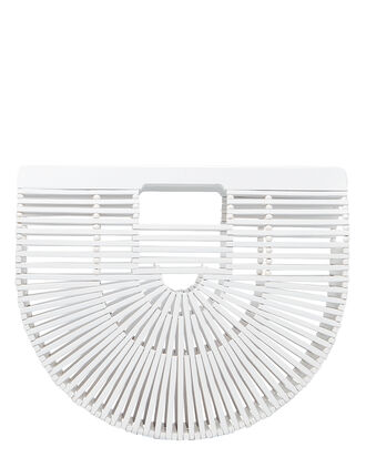 Ark Small Bamboo Woven Bag, WHITE, hi-res