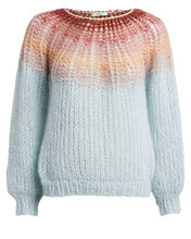 Mohair-Blend Ombré Sweater, BLUE-LT, hi-res