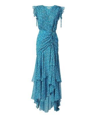 Samara Ruched Midi Dress, BLUE-MED, hi-res